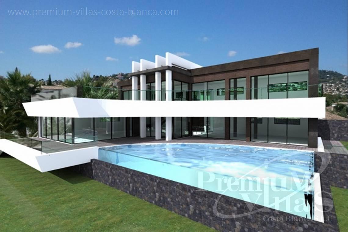 Villa moderne de design à vendre avec une belle vue sur la mer à Benissa